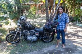 Eka and his Harley!